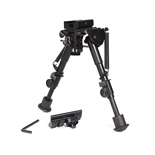 Ohuhu Hunting Tactical Rifle Bipod with Picatinny and Swivel Stud Mounts