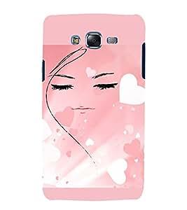 PrintVisa Girly Hearts Design 3D Hard Polycarbonate Designer Back Case Cover for Samsung Galaxy J7