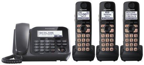Panasonic KX-TG4773B Dect_6.0 3-Handset 1-Line Landline Telephone