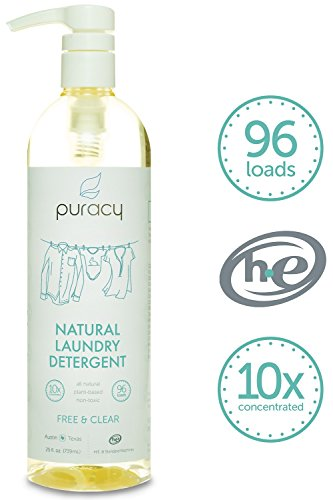 Puracy Natural Liquid Laundry Detergent - Sulfate-Free - THE BEST High Efficiency Soap - Free & Clear - 10x Concentrated
