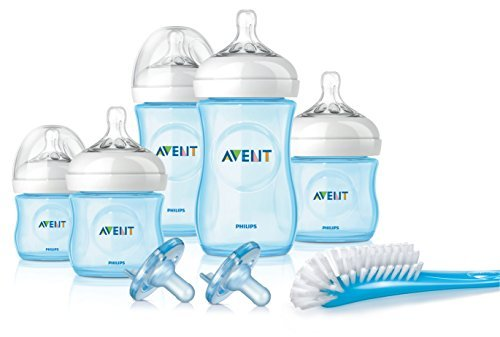 Philips Avent Natural Infant Baby Bottle Starter Set, Blue (New Mom Starter Kit compare prices)