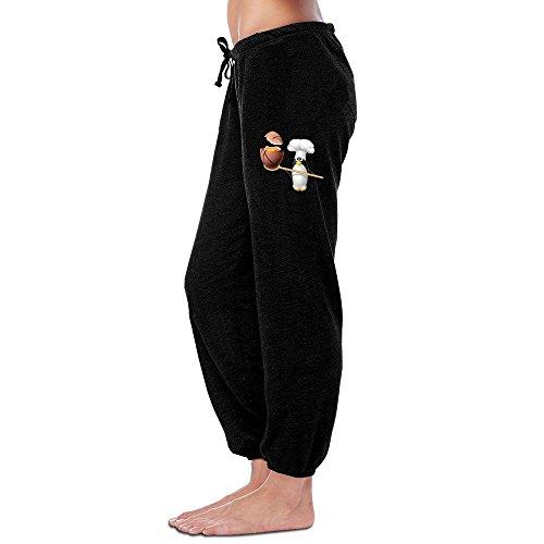 Kim Women's Sweatpants Penguin Cook Ball Black Size L
