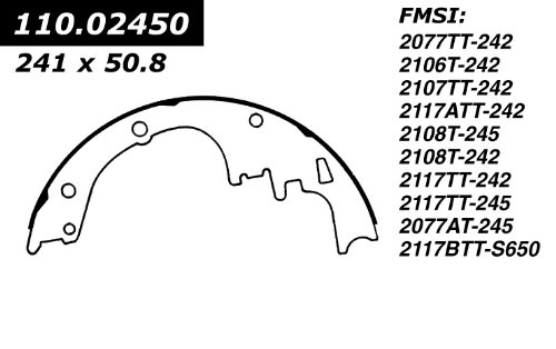 Centric Parts, 112.02450, Riveted Brake Shoes wagner thermoquiet pab246r riveted brake shoe set front