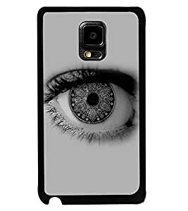 Fuson Premium Artistic Eye Metal Printed with Hard Plastic Back Case Cover for Samsung Galaxy Note Edge N9150