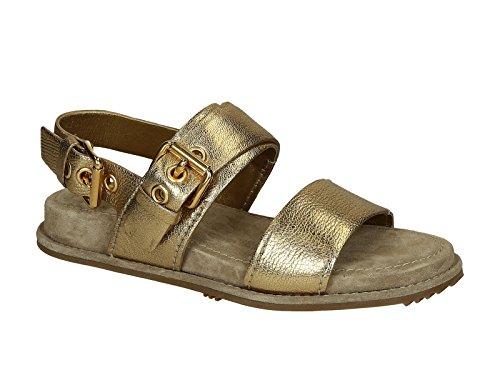 Sandali bassi Car Shoe donna in pelle Platino - Codice modello: KDX28K 3O5E F0522 - Taglia: 37 IT