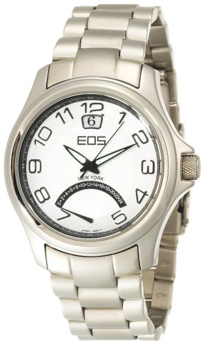 EOS New York Men's 15STSIL Traveler Metal Band Watch