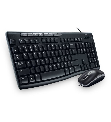 Logitech Media Combo MK200 Full-Size Keyboard and High-Definition Optical Mouse - 920-