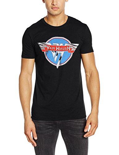 CID Van Halen-Vintage Logo, T-Shirts Uomo, Black, Large