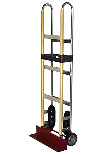 Milwaukee Hand Trucks 42187 Aluminum Appliance Truck With Ratchet Belt Tightener And Mold-On Wheels front-4328