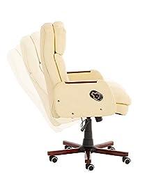 CLP Fauteuil de bureau INDIANA, assise ergonomique, hauteur assise: 46 - 57 cm, mécanisme d?inclinaison, rembourrage de qualité, 4 couleurs...