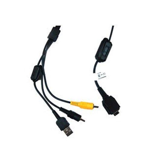 weltatec Qualitäts USB / AV Kabel PC Verbindungskabel kompatibel mit Sony Cybershot / DSC-WX1 / DSC-W300 / DSC-W200 / DSC-W170 / DSC-W150 / DSC-W130 / DSC-W120 / DSC-W110 / DSC-W90 / DSC-W85 / DSC-W80HDPR / DSC-W80 / DSC-W55 / DSC-TX1 / DSC-T90 / DSC-T77 / DSC-T700 / DSC-T300 / DSC-T200 / DSC-T100 / DSC-T70 / DSC-T50 / DSC-T30 / DSC-T25 / DSC-T20 / DSC-T10 / DSC-T9 / DSC-T5 / DSC-T2 / DSC-H50 / DSC-H10 / DSC-H9 / DSC-H7 / DSC-H3 / DSC-N2 / DSC-N1 / DSC-F88 / DSC-P200 / DSC-P150 / DSC-P120 / DSC-