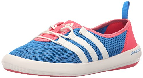 Adidas Outdoor Women's Climacool Boat Sleek Water Shoe, Shock Blue/Chalk White/Super Blush, 8 M US