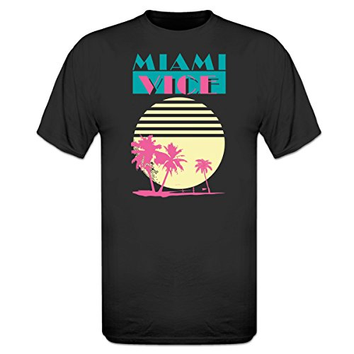 Miami Vice Black T-Shirt by Shirtcity - Mens Sizes from S to XXXL