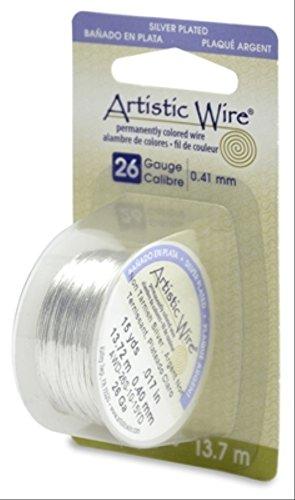 Artistic Wire 26-Gauge Tarnish Resistant Silver Wire, 15-Yard