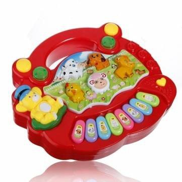 Baby Kids Child Animal Farm Keyboard Electrical Piano Musical Toy