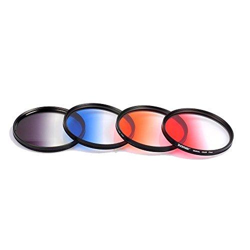 zomei-405-49-52-58-77-82mm-ultra-slim-graduated-grey-blue-orange-red-filter-set-77mm