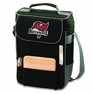 NFL Tampa Bay Buccaneers Duet Insulated 2-Bottle Wine and Cheese Tote by Picnic Time