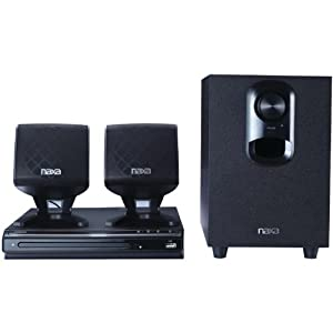 NAXA Electronics ND-857 2.1-Channel DVD Home Theater System with Progressive Scan DVD Player and USB Input