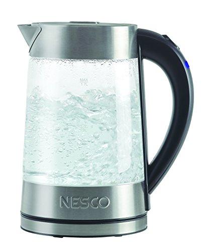 Nesco Gwk-02 Electric Glass Water Kettle, 1.8-Quart, Gray