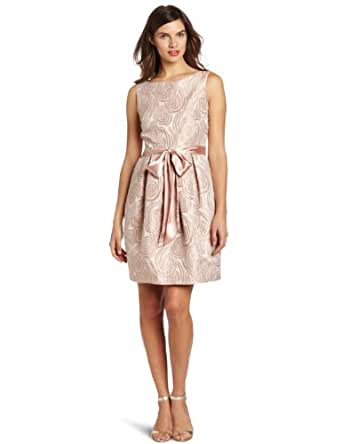 Eliza J Women's Belted Jacquard Dress, Blush, 4
