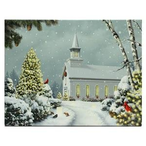 "Raz Imports 94491 - 24"" X 18"" X 1"" - ""Church"" Battery Operated Led Lighted Canvas (Batteries Not Included)"