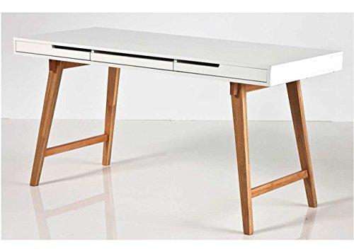 Schreibtisch-in-matt-wei-mit-Beinen-in-Buche-massiv-und-3-Schubksten-Mae-BHT-ca-1407558-cm