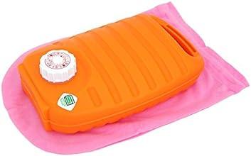 スタンディング型 湯たんぽ ドーム1.8L 袋付 オレンジ 223149