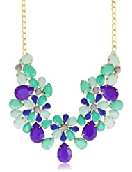 Meera Mittal Choker Necklace For Women (Blue) (NKL-STM-29)