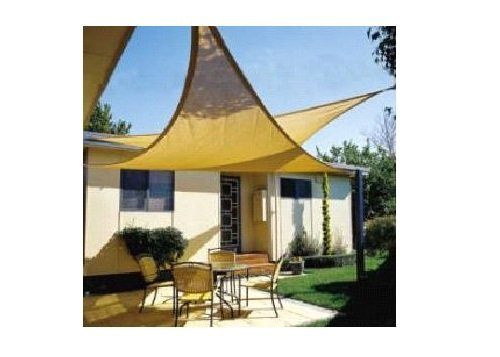New ProSource Sand Color 16u2032 Oversized Sun Shade Sail Shade Canopy Sun  Shelter