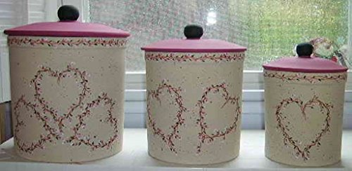 Ceramic Shabby Chic Kitchen Canisters