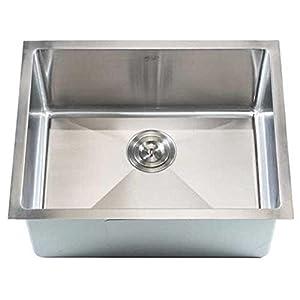 Undermount Utility Sink Stainless Steel : Stainless Steel Kitchen Sink -F2318 Rectangular Single Bowl Undermount ...