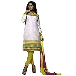 Typify Women's Chanderi Unstitched Dress Material (TYPIFY220_Multicolor_Free Size)