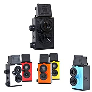 Lomo Recesky Twin Lens Reflex Camera DIY TLR 35mm with Assemble Tool & Roll film Red color