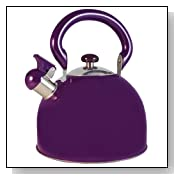 FancyCook Stainless Steel Whistling Purple Tea Kettle 3-Qt
