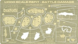 Star Trek Refit Enterprise Battle Damage (1:1000 scale) Model Kit Photoetch (Star Trek Resin Models compare prices)