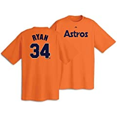 Houston Astros Nolan Ryan Cooperstown Adult Orange Player T-Shirt by Majestic