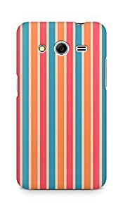 Amez designer printed 3d premium high quality back case cover for Samsung Galaxy Core 2 (Line vertical bright colorful light texture)