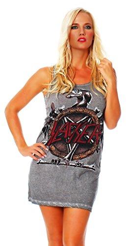 Disturbia -  Vestito  - Assimetrico - Basic - Collo a U  - Donna grigio Small