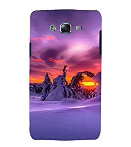 printtech Snow Tree Jungle Snowfall Back Case Cover for Samsung Galaxy A8::Samsung Galaxy A8 A800F