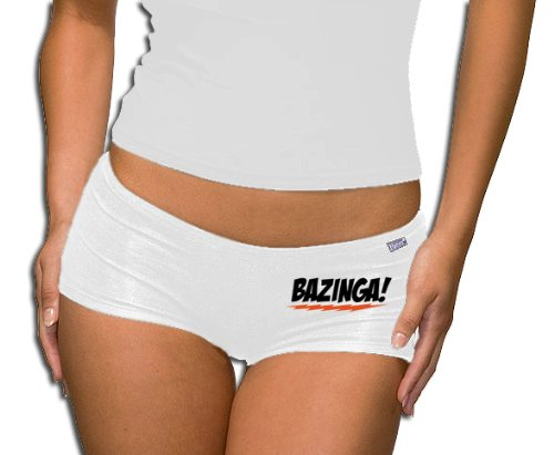 The Big Bang Theory - Bazinga Logo Panty - Short White XL