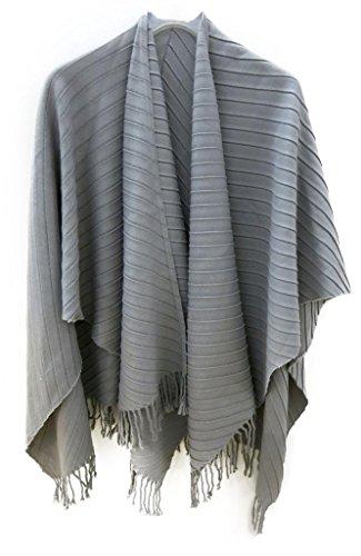 accessu-Poncho-Cape-Couverture-pour-Femme-Design-Pliss-alternative-lgante-pour-pull-over-et-veste-gris