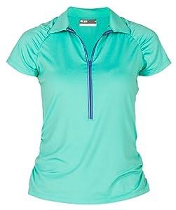 Lija Ladies Groove Raglan Short Sleeve Polo Shirt by Lija