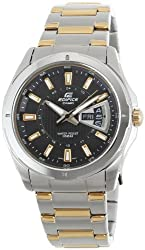 Casio Edifice Analog Black Dial Mens Watch - EF-129SG-1AVDF (ED383)
