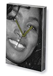 ANGELA BASSETT - Canvas Clock (LARGE A3 - Signed by the Artist) #js001