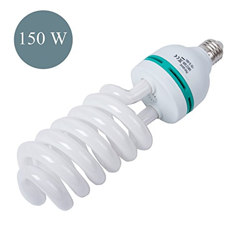 150W Photography Compact Fluorescent CFL Daylight Balanced Bulb with 5500K Color Temperature for Photography & Video Studio Lighting (Temperature Bulb compare prices)