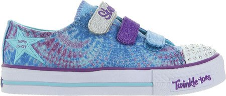 Skechers Infant/Toddler Girls' Twinkle Toes Shuffles Peace N Love,Turquoise/Mult front-982807