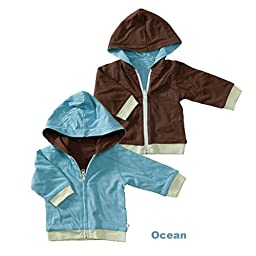 Baby Soy All-Natural Year-Round Reversible Hoodie - Blossom/chocolate (6-12 Months)