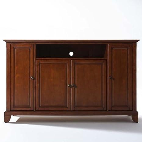 Crosley Furniture Newport 60-Inch TV Stand, Classic Cherry