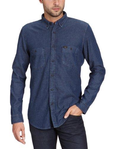 Lee Men's Button Down Shirt - L802Buta Casual Shirt Blue (Tint Blue) 52/54