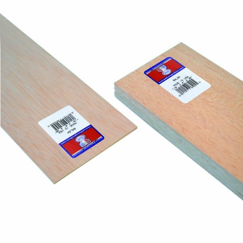 Midwest Products 6404 Micro-Cut Quality Balsa 36-Inch Sheet Bundle, 0.125 X 4 Inches